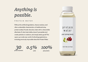 Protein water whey protein